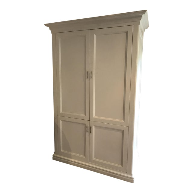Image of Shabby Chic White Media Cabinet