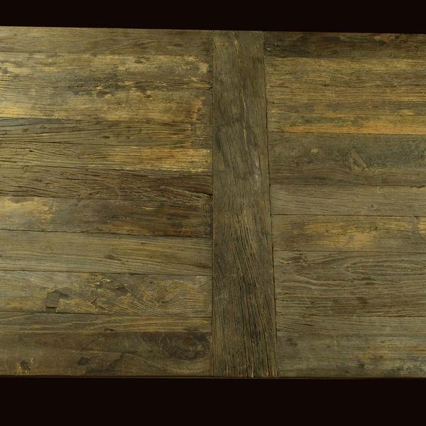 Restoration Hardware Reclaimed Elm Dining Table - Image 3 of 5