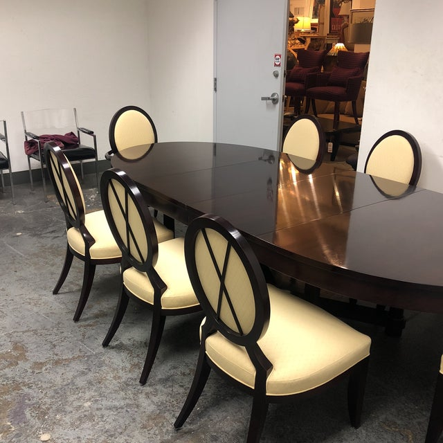 Barbara Barry Oval Dining Table & 8 Chairs for Baker - Set of 9 - Image 6 of 8