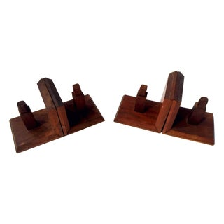 Vintage Structural Bookends - A Pair