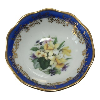 French Limoges Floral Dish