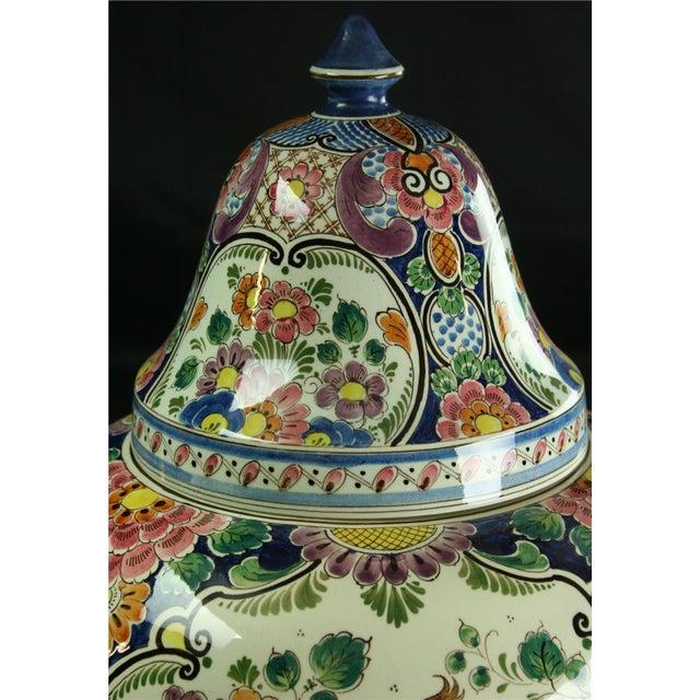 Large 1940s Vintage Majolica Ginger Jar - Image 2 of 8