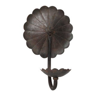 Flower Mounted Iron Sconce