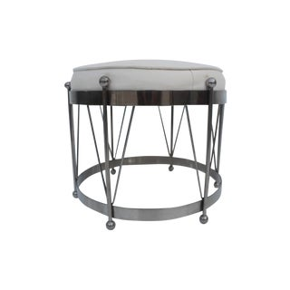 George Koch Mid-Century Vinyl & Chrome Drum Stool