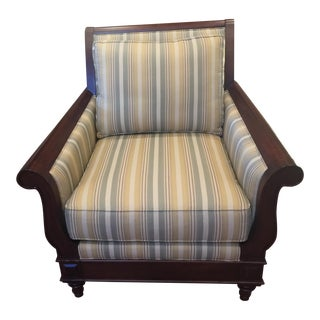 Bernhardt for Martha Stewart Striped Upholstery Club Chair