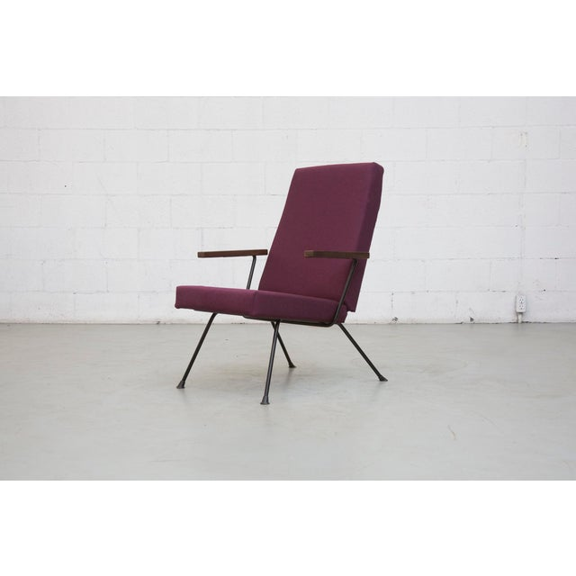 Image of Kembo High Back Armchair in New Plum Fabric