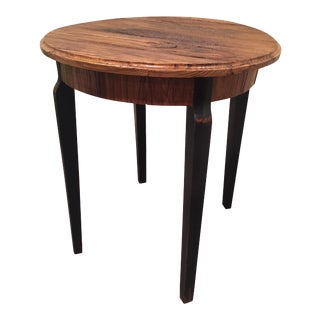 Taylor Burke Home Raw Wood & Ebony Side Table