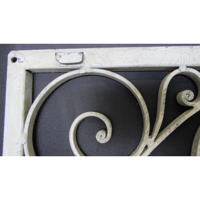 Vintage Painted Iron Wall Panel - Image 8 of 10