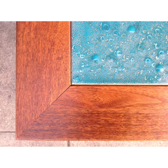 Mid-Century Brown Saltman Side Tables - A Pair - Image 4 of 7