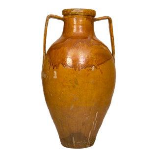 Large Yellow Glazed Olive Jar