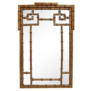 La Barge Gold-Leaf Faux Bamboo Wall Mirror