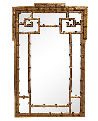 la barge goldleaf faux bamboo wall mirror