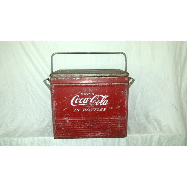 Image of 1955 Original Coca Cola Cooler Drink Server