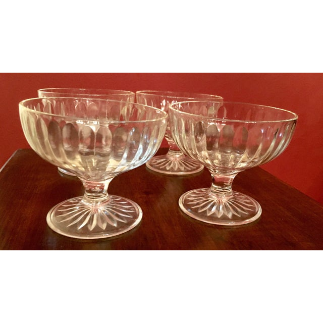 Mid-Century Ribbed Champagne Coupes - Set of 4 - Image 6 of 7