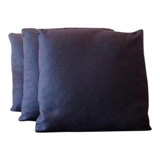 Italian Indigo Wool Pillow Covers - Set of 3