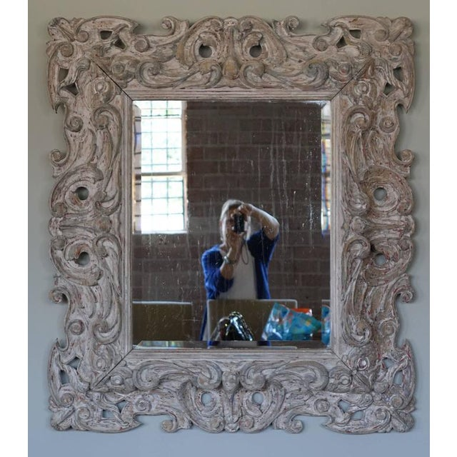 Antique Italian Carved Painted Mirror - Image 2 of 8