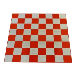 Game Table Plexi Cube 1970s Op Pop Red Squares Signed Morgan