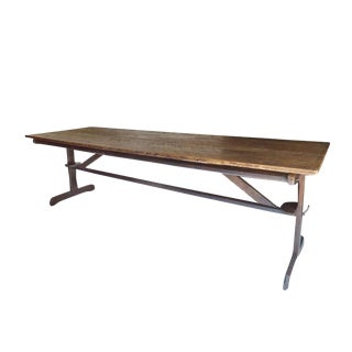 Large Early Trestle Dining Table