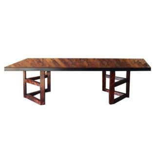 Mid Century Herringbone Rosewood Dining Table