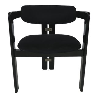 Black Lacquer Pamplona Chair by Augusto Savini for Pozzi