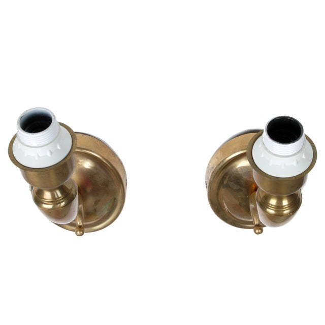 Italian Solid Brass Sconces - A Pair - Image 5 of 9