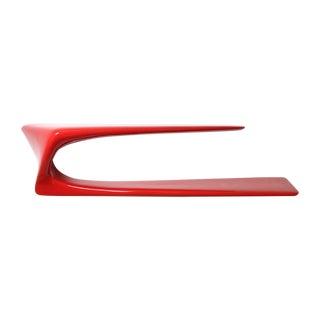 Amorph Flux Red Sculptural Shelf