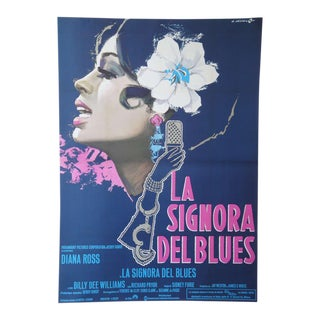 "Extremely Rare Diana Ross ""La Signora Del Blues"" Italian Movie Poster"