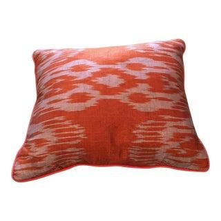 Silk and Cotton Ikat Pillow