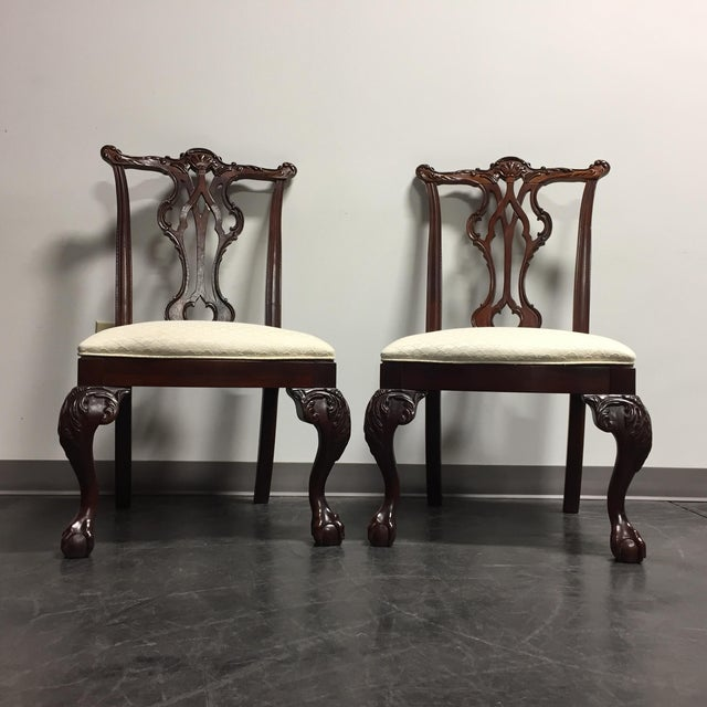 Thomasville mahogany collection ball claw dining chairs - Thomasville mahogany collection bedroom ...