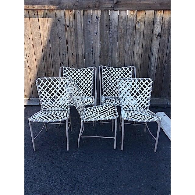 Vintage Brown Jordan Patio Chairs Set Of 5 Chairish