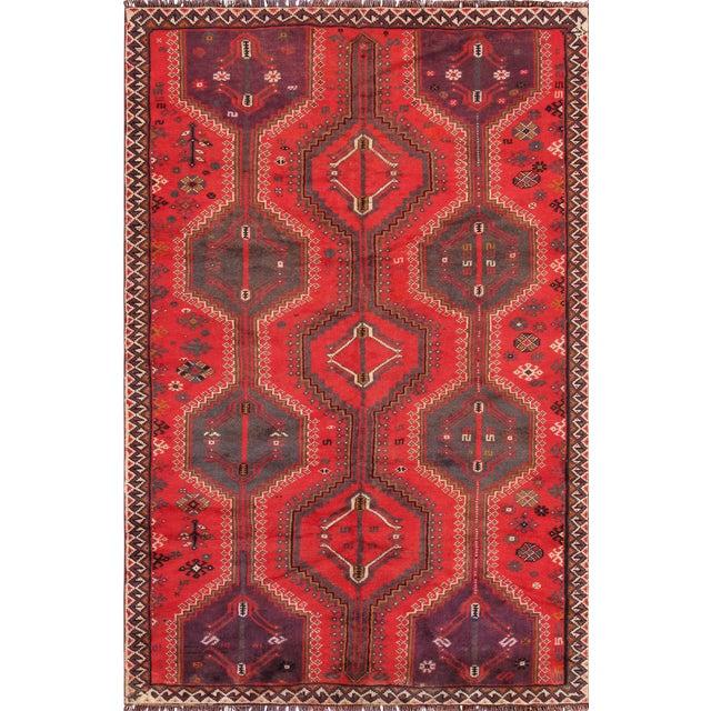 "Pasargad Vintage Shiraz Area Rug - 4'11"" X 7' 7"" - Image 1 of 3"