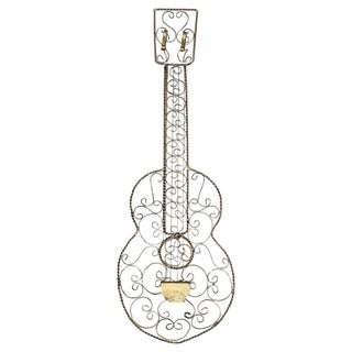 Wrought Steel Guitar Wall Hanging