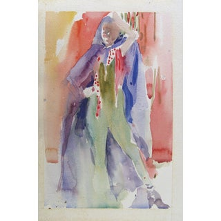 Colorful 1980s Fashion Watercolor