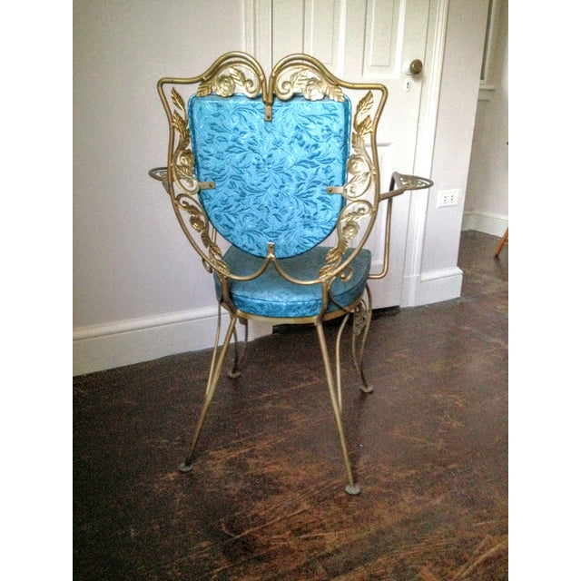 Mid Century Hollywood Regency Accent Chair - Image 5 of 11