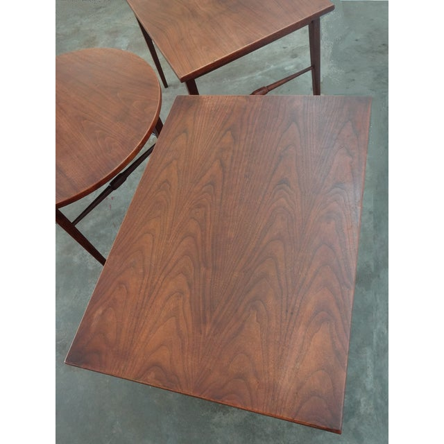 Image of Danish Modern Wooden Side Tables - A Pair