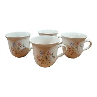 Stoneware Spring Meadow Coffee Mugs - Set of 4