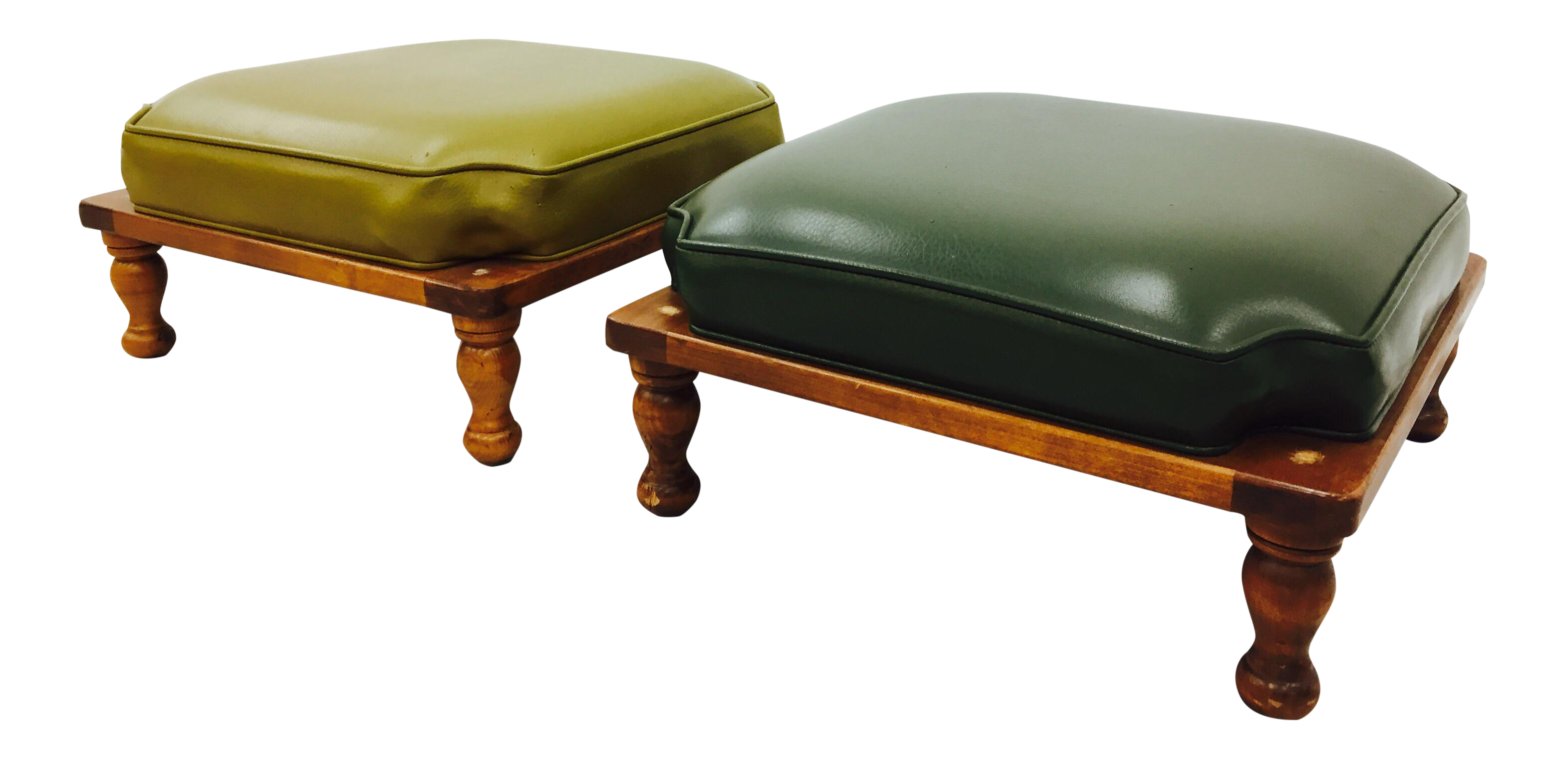 Vintage Stacking Ottoman Stools A Pair Chairish