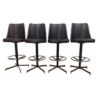 Mid-Century Modern Bar Stools - Set of 4