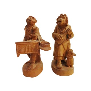 Vienna Terracota Monkey Figures - A Pair