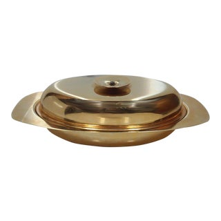 Tommi Parzinger Gold Plated Lidded Dish