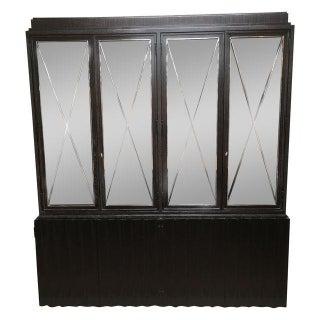 Ralph Lauren Chrome X Glass Front Cabinet