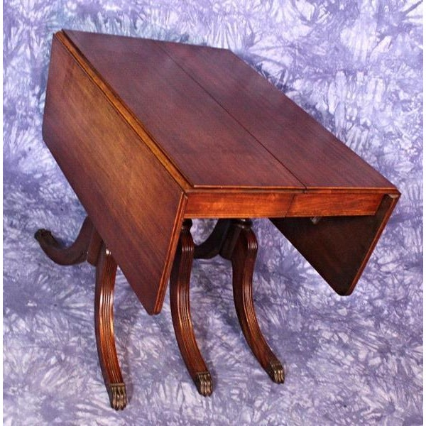 1930 Duncan Phyfe Antique Mahogany Drop Leaf Dining Table Chairish