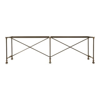 Steel & Solid Bronze Kitchen Island Frame