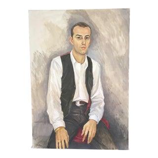 Vintage Mid-Century Portrait by Robert Brisley