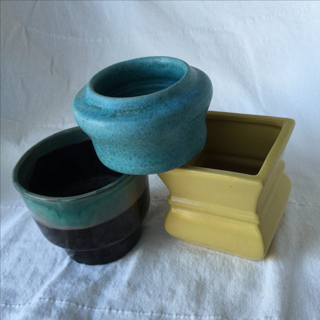 Pottery Planters - Set of 3 - Image 9 of 11
