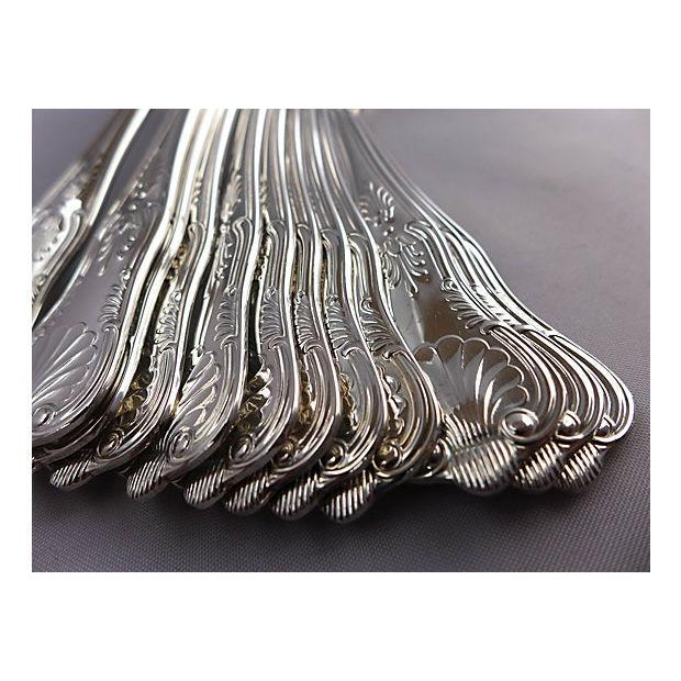 Image of King's Pattern Silver-Plate Flatware - Set of 66