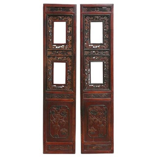 Antique Chinese Screen Door Panels - A Pair