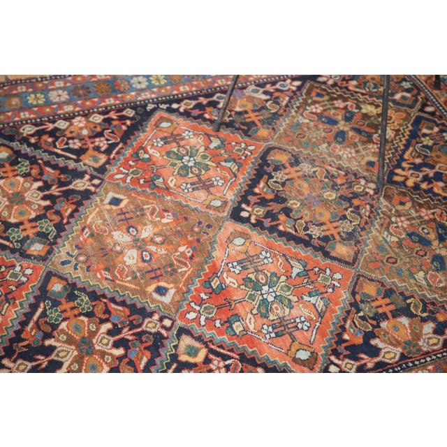 """Antique Distressed Afshar Square Rug - 4'4"""" X 5'7"""" - Image 4 of 9"""