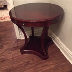 Image of Cherry Wood Round Console Table