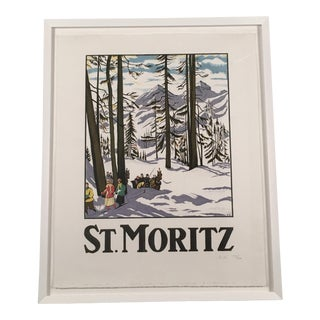 St. Moritz Framed Travel Poster After Emile Cardinaux